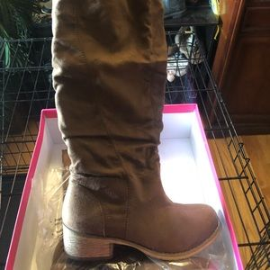 Brown Tall Boots - Wide Calf